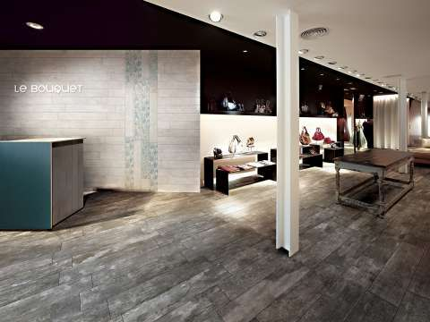 Distressed Wood Floor Boards - Or Are They? Selection of wood look tiles