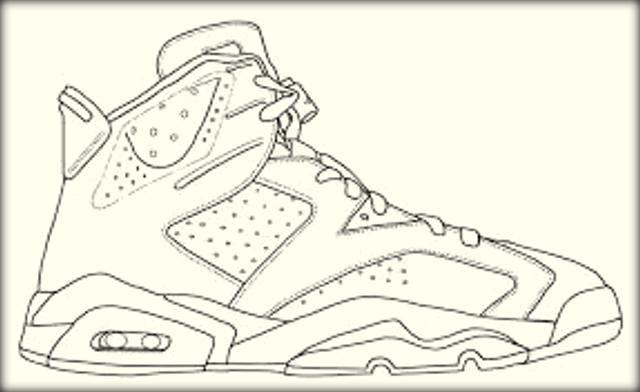 Online Basketball Jordan Shoe Coloring Book