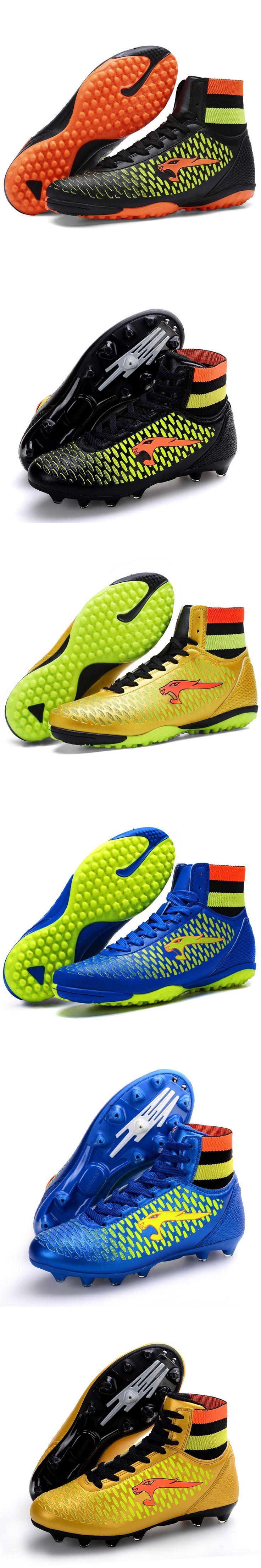 New Mens/Kids Soccer Shoes AG/TF Professional Adults Football Boots High Ankle Children Cleats Sneakers Outdoor Athletic Trainer
