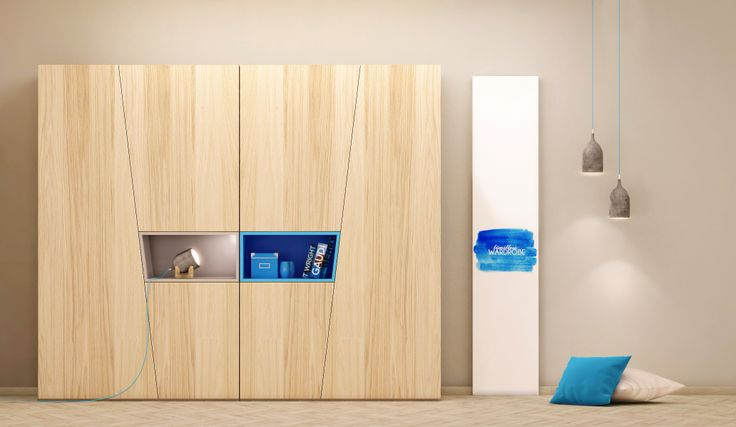 Szafa modułowe z ciekawie wkomponowaną półką otwarta. Wykończenie półki w rożnych kolorach. Szafa VECTOR dostępna lewa i prawa do łączenia dwóch elementów ze sobą.