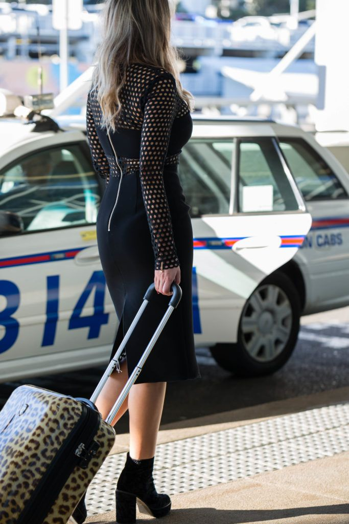 Thurley Lace Dress Sydney Fashion Shoot Airport Style Fishnet Dress