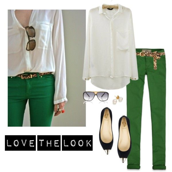 green - polyvore