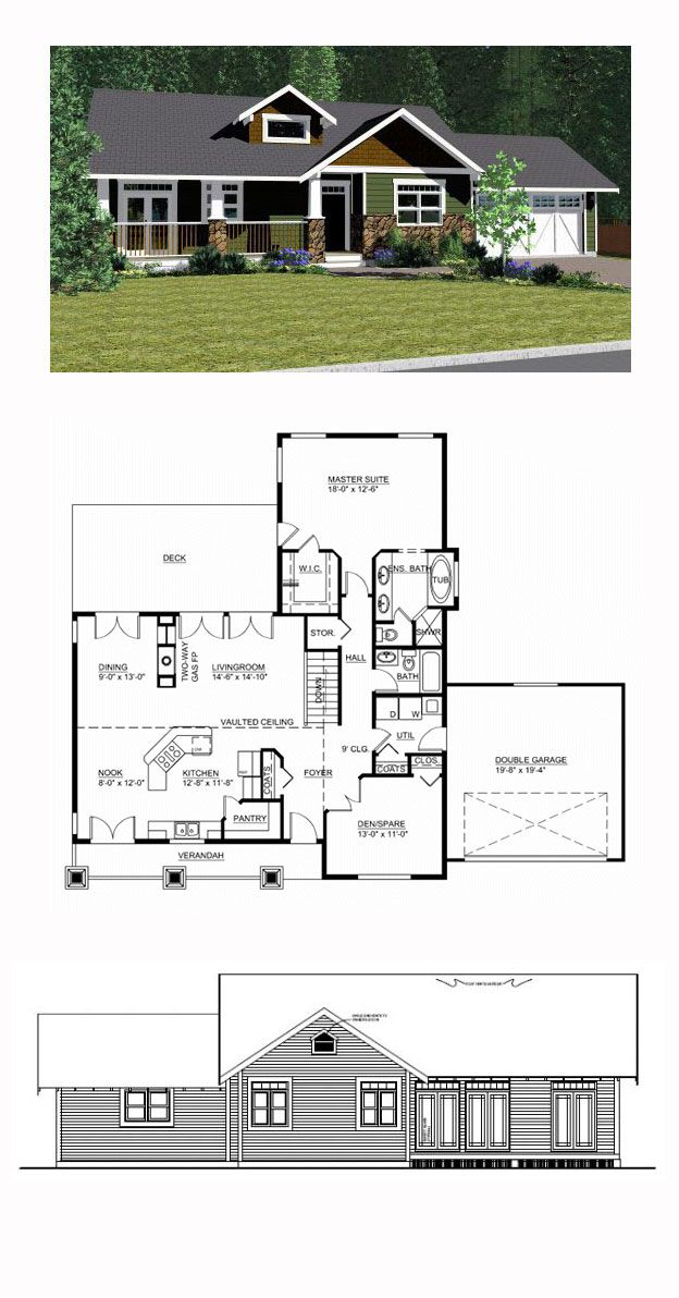 Ranch style cool house plan id chp 44492 total living for Cool house plans ranch