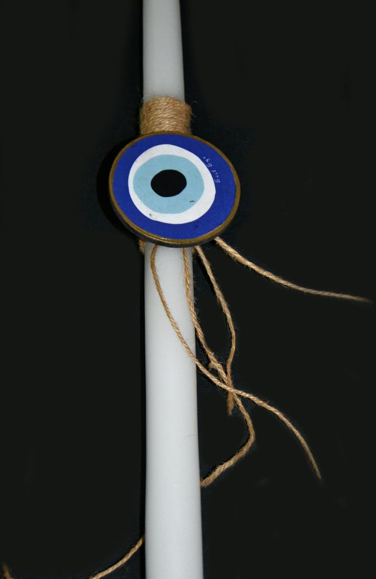 "easter candle ""evil eye""  by Lne' s Artwork"