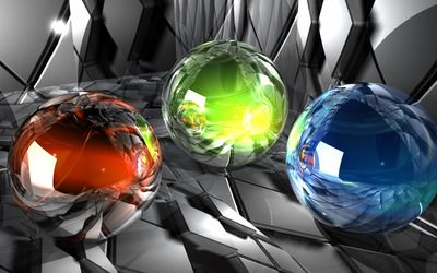 Glass orbs wallpaper
