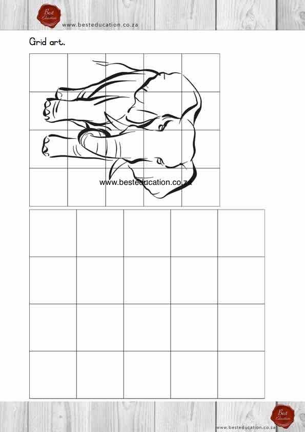 Grid Art Grade 6 Art - www.besteducation.co.za