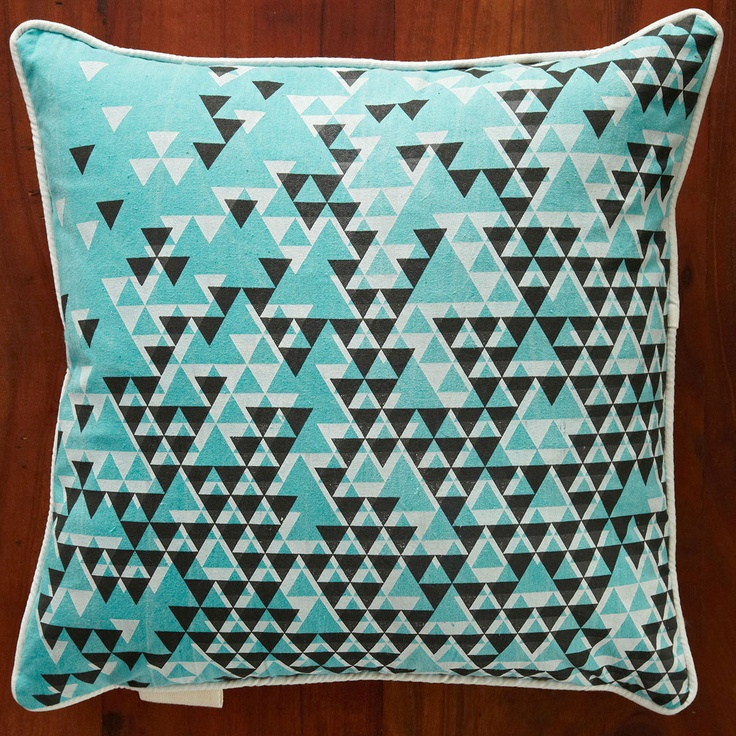 Aztec Triangles Pillow by Nell and Mary: Pillows Covers, Triangles Pillows, Turquoi Aztec, Pillow Covers, Aztec Triangles, Pillows Turquoise, Turquoise Aztec, Products, Graphics Patterns