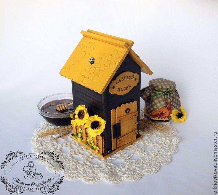 """Купить Чайный домик """"Пчелкин дом"""", декор. - чайный домик, эксклюзивный подарок, оригинальный подарок"""