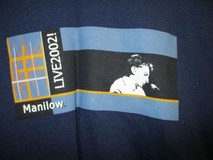 VINTAGE BARRY MANILOW CONCERT SHIRT 2002 MEN'S  X-LARGE #VINTAGE #BARRYMANILOW