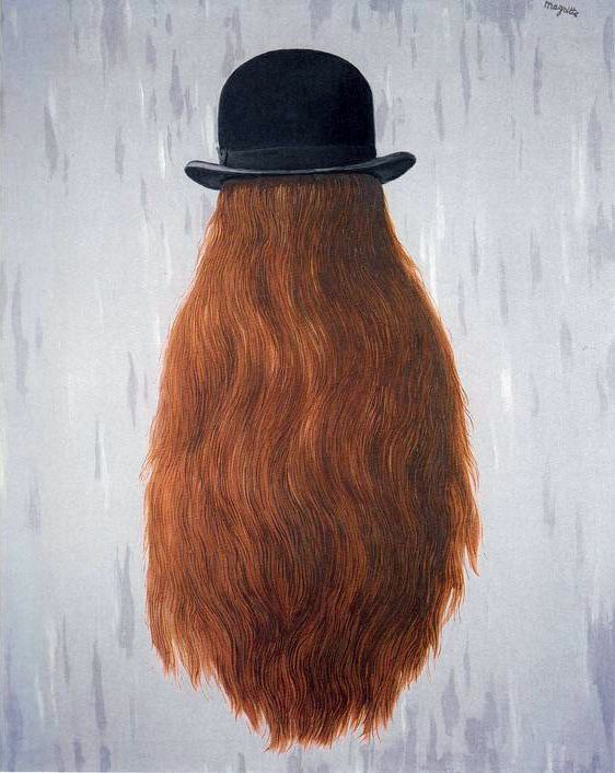 René Magritte - Le Pan de Nuit, 1965 More Like This At FOSTERGINGER @ Pinterest🉐🔹🍁