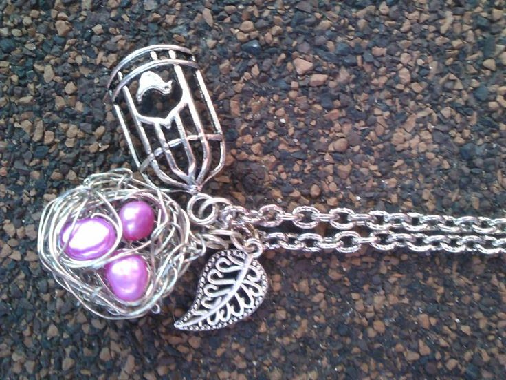 """""""Birds Nest"""" Made with fresh water pink pearls... Made by ME!"""
