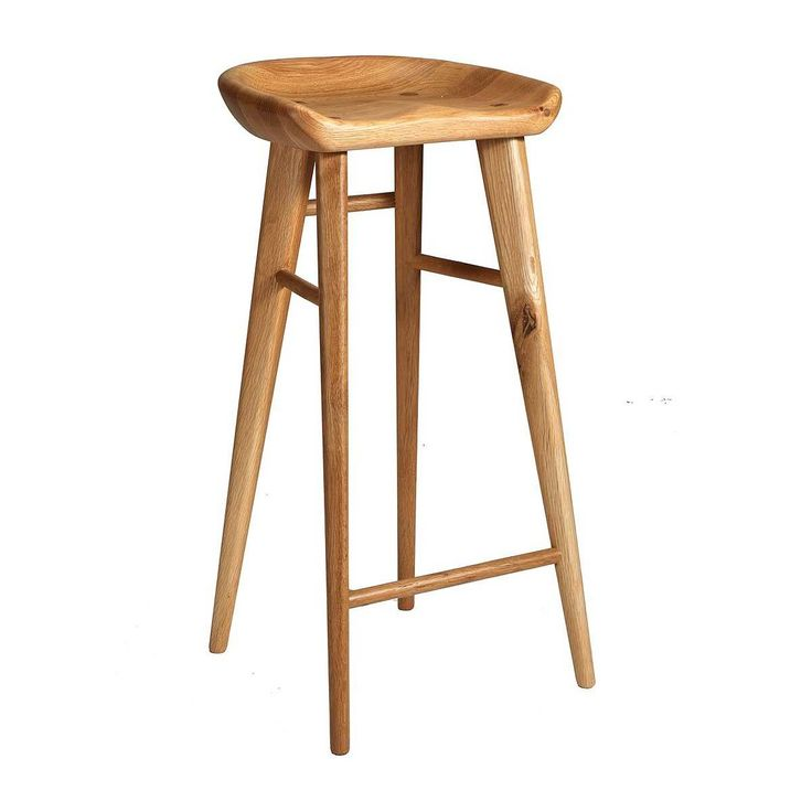Shop Contemporary Bar Stools Online or Visit Our Showrooms To Get Inspired With The Latest Bar Stools From Organic Modernism - Taburet Bar Stool (Oak)