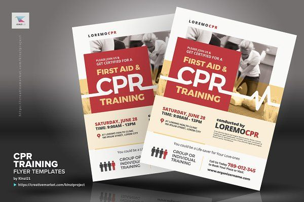 Cpr Training Flyer Templates Flyer Template Cpr Training Flyer