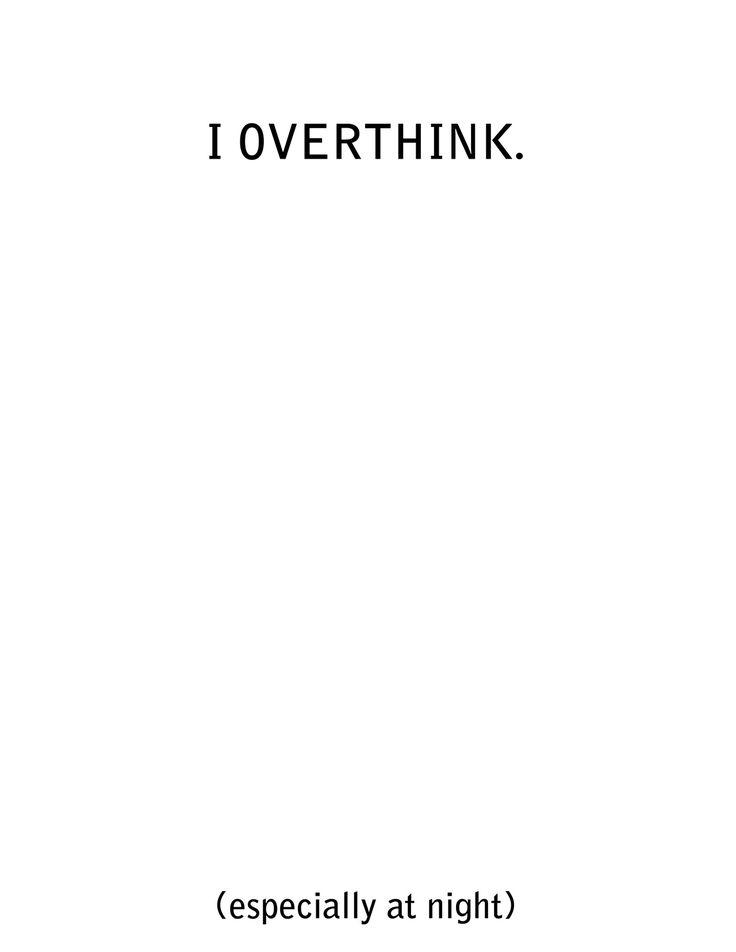 overthink quote