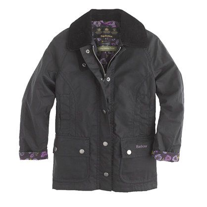 For my big girl..J.Crew - Girls' Barbour® printed Beadnell jacket