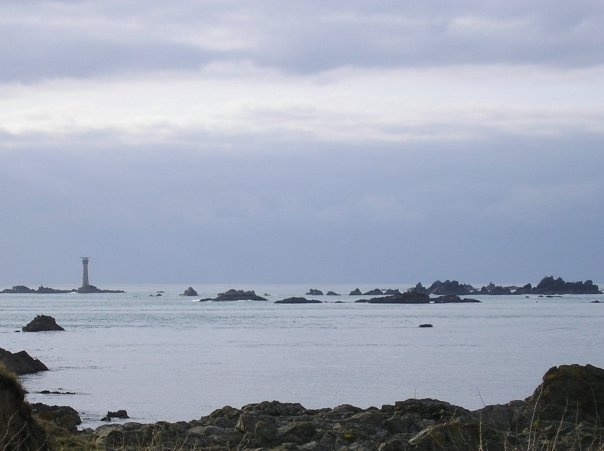 Les Hanois Reef & Lighthouse from Pleinmont