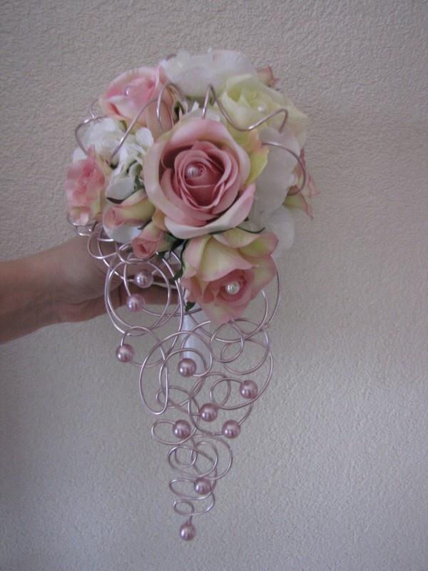 #Draht #Perlen Bruidsboeket afhangend
