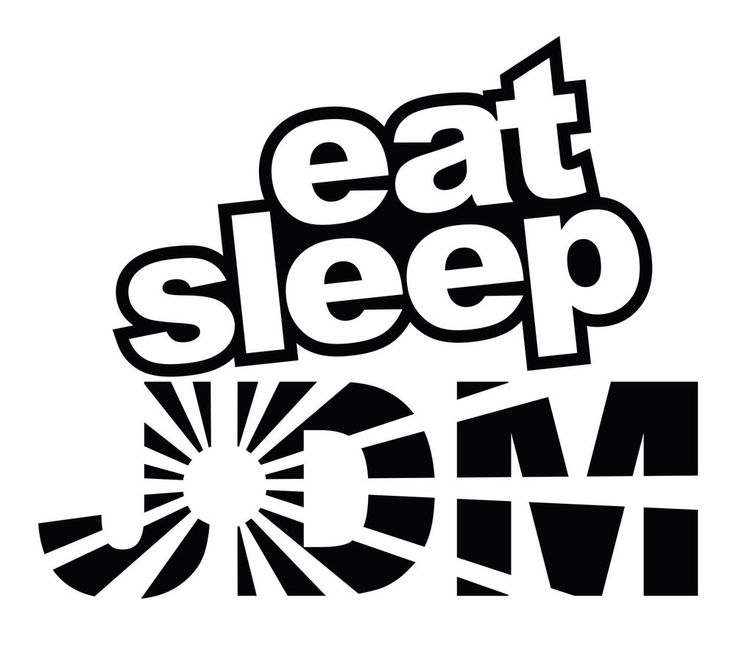 Eat sleep jdm rising sun car body window bumper vinyl decal sticker oracal