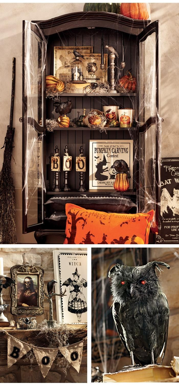 Vintage halloween window decorations - Amazing Halloween Decor