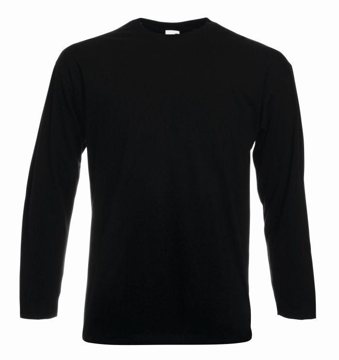 Koszulka Valueweight z długim rękawem. Odzież męska. Producent: Fruit of the Loom. Numer katalogowy: 610380. Materiał: 100% bawełna. Gramatura: 160g/165g.