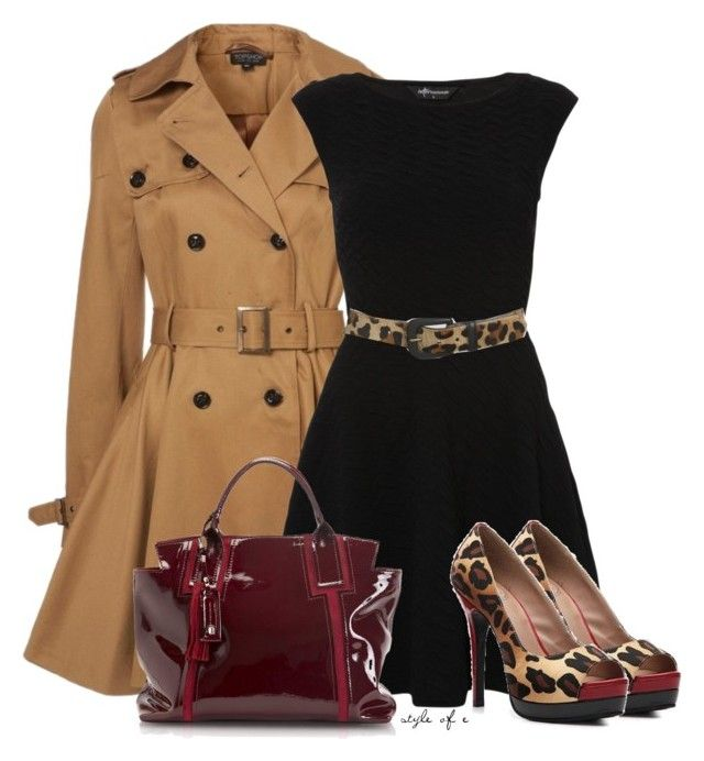 """""""Leopard Print Accents"""" by styleofe ❤ liked on Polyvore featuring Lauren Ralph Lauren and Francesco Biasia"""