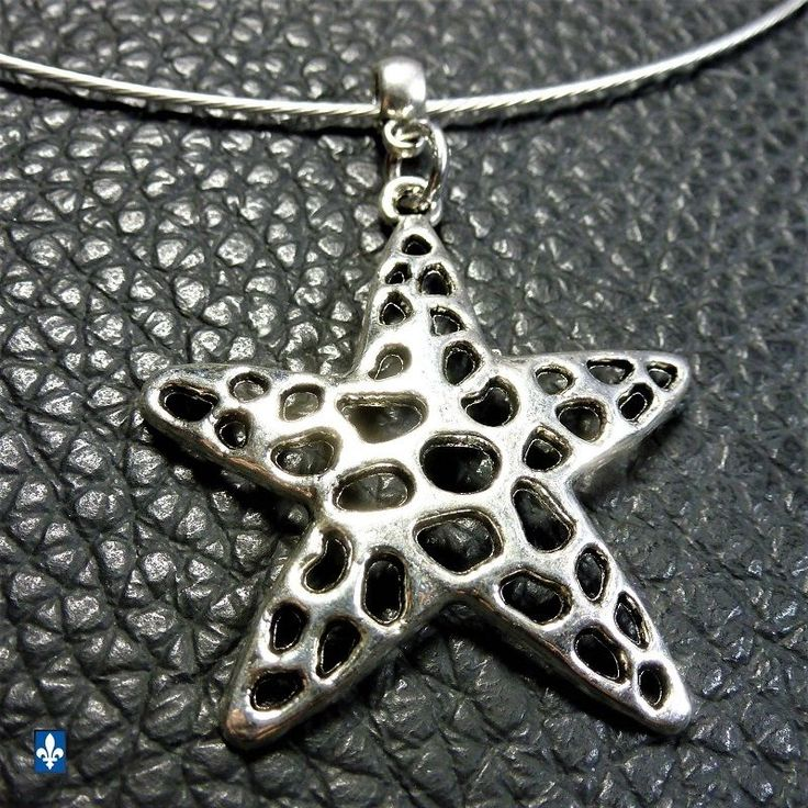 ♥ Very Cute Silver Plated Single Starfish Pendant Stainless & Steel Necklace