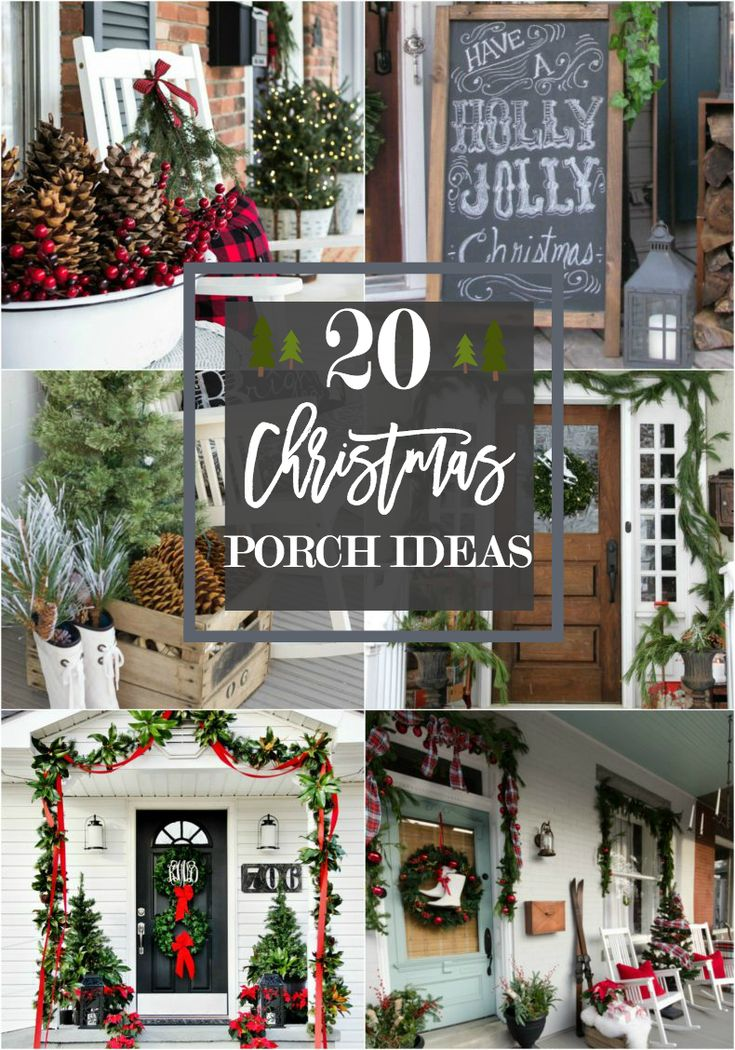 20 beautiful christmas porch ideas diy christmas decorating - Christmas Porch Decor