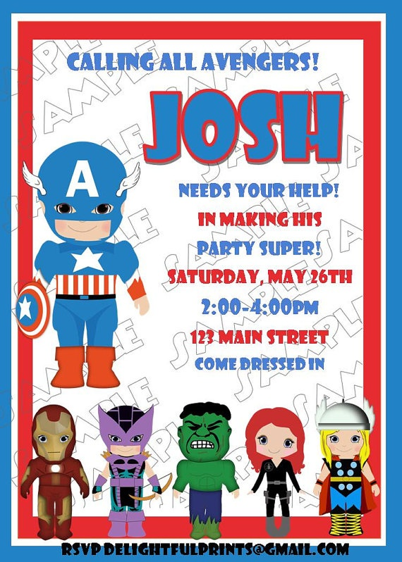 125 best images about Avengers – Marvel Party Invitations
