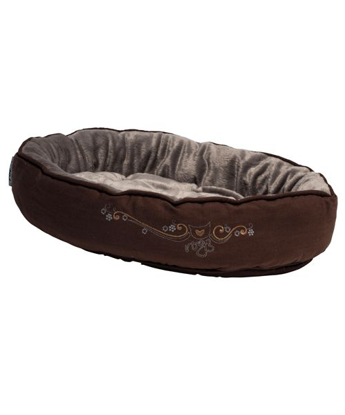 ROGZ SNUG PODZ - BRONZE FILIGREE (CAT BED). Available from www.nuzzle.co.za