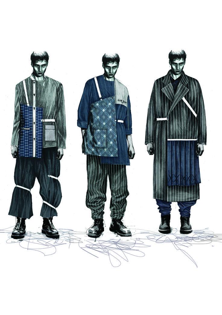 Fashion Sketchbook - fashion illustrations; fashion drawings; fashion student portfolio // Lucy James