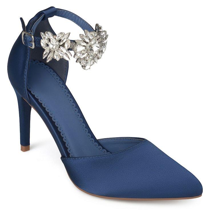 Journee Collection Loxley Women's High Heels, Size: medium (8.5), Blue (Navy)