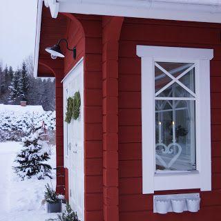 Timmerhus, log house, timberhouse, sweden, dalarna, forsgrenstimmerhus, forsgrens timmerhus, pardörr, westergaard kovacs, ljushjärta, snö, snow, let it snow, xmas, christmas, julstämning, falurödfärg, vackra hus