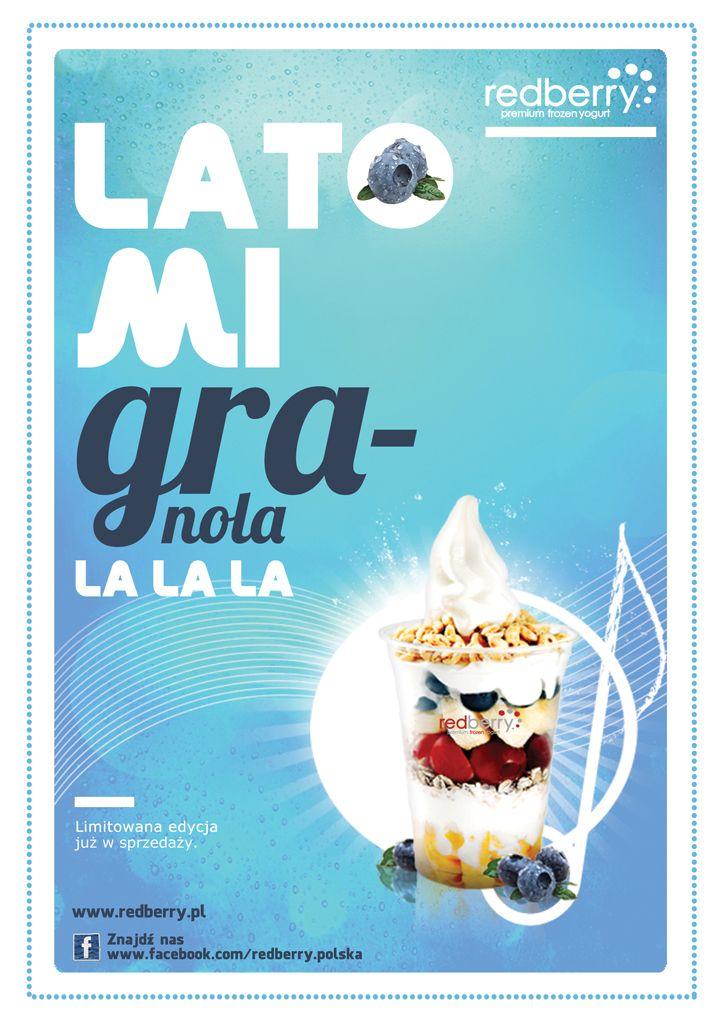 A na lato GranoLato! Mix jogurtu Redberry, owoców leśnych, truskawek, bananów i arbuza. Rozkoszuj się smakiem i śpiewaj GranoLa la la :)