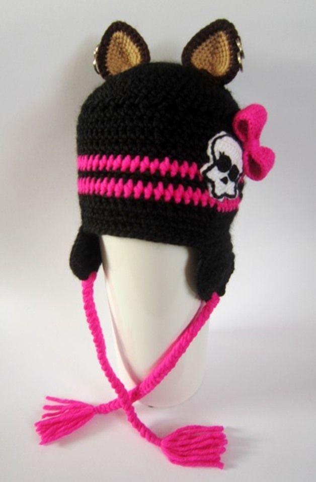 Jesienno- zimowa czapka Monster High - EDACROCHET - Czapki dla dzieci