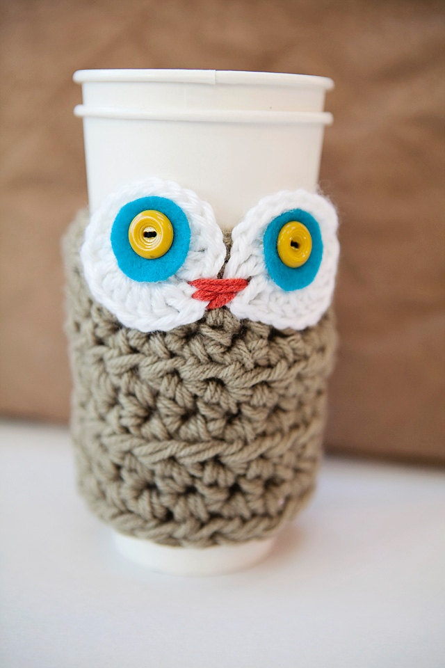 Owl Cup Cozy: Crafts Ideas, Cups Cozy, Owl Kelly, Owl Owl, Owl Cups, Owl Two, Mugs Cozy, Cute Owl, Cozy Patterns