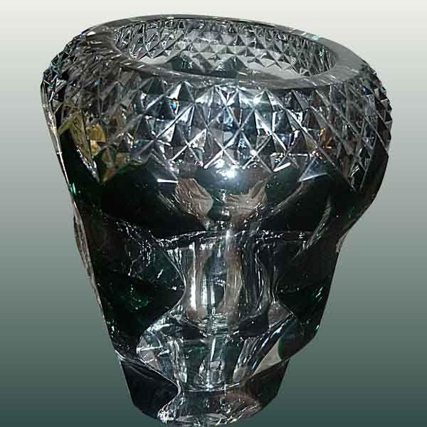 Vase en cristal du Val Saint Lambert signé-kristallen vaas Val Saint Lambert ondertekend