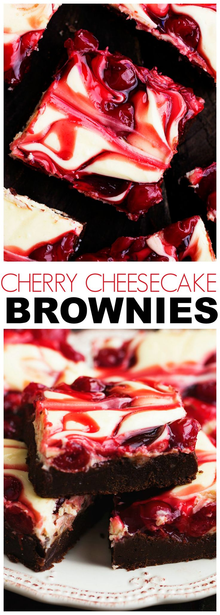 Cherry Cheesecake Brownies are one of the BEST brownies you will make! Three…