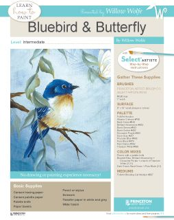 Learn to paint beautiful birds. Visit www.willowwolfe.ca for this free project and more!