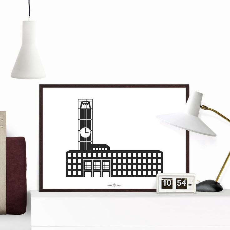 Aarhus Rådhus Plakat | Urban Hagen  Giclee print on Hahnemühle Paper