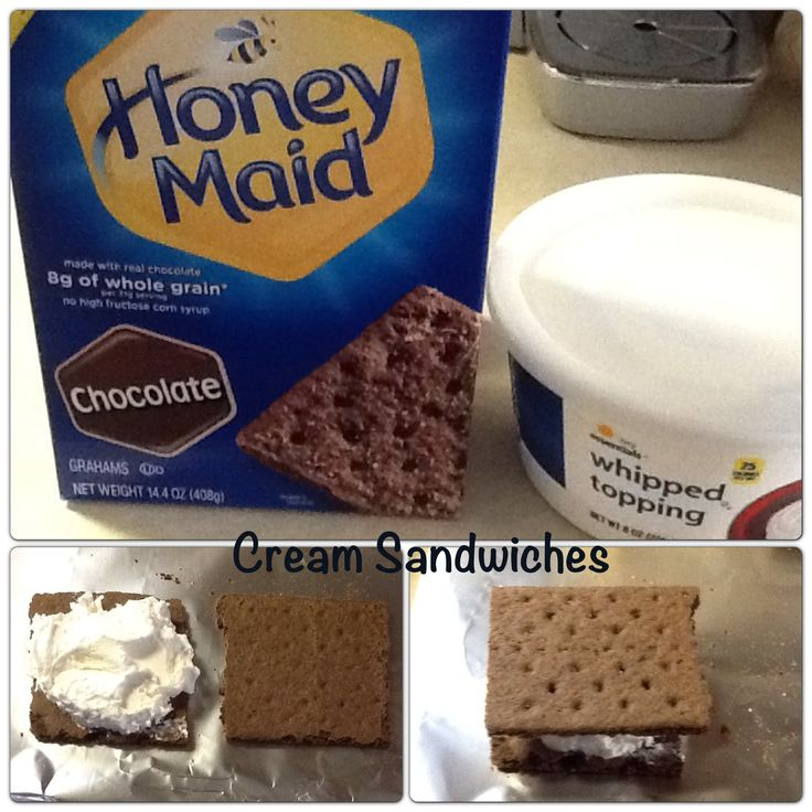 I saw Jorge Cruise give this recipe on Dr. Oz. You can also use regular graham crackers. Freeze the sandwiches and enjoy them later.