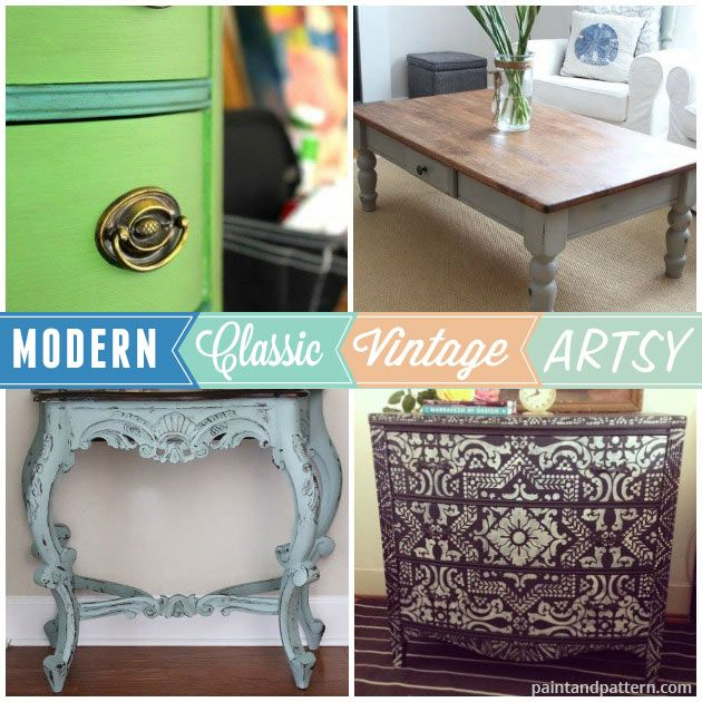 best Wood + Furniture Stenciling  on Pinterest