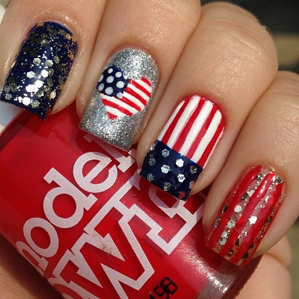 193 best fourth of july patriotic nail design images on pinterest of july nails solutioingenieria Choice Image