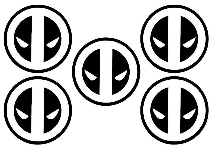 Deadpool Comic DC Pack of 5 Tile/ Wall Art Vinyl Decal Sticker Stencil Adhesive Home Decor by VinylCre8iveDesigns on Etsy