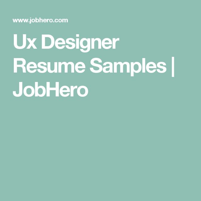 11 best UX Resumes images on Pinterest Resume, Curriculum and Ux - airport agent sample resume