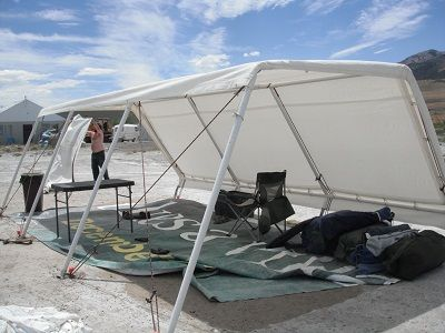 Clamshell Shelter Made From A Costco Barn Burning Man