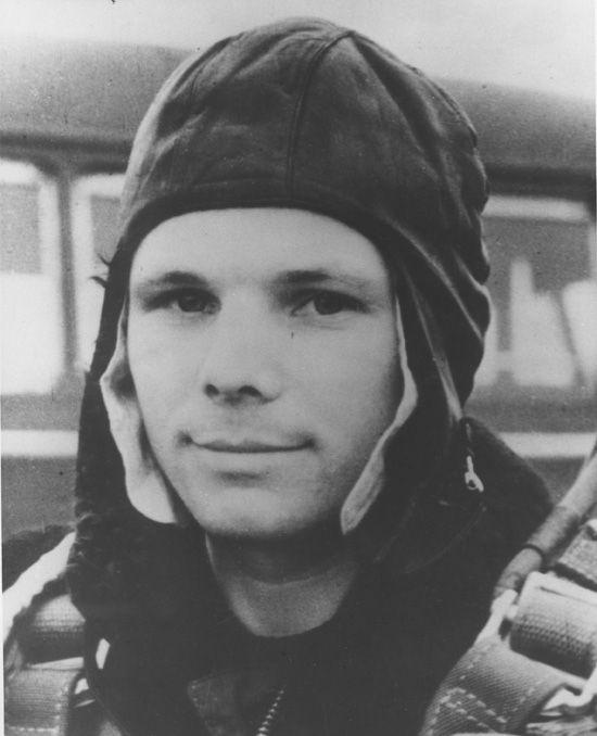 Juri Gagarin-sowjetischer Kosmonaut erster Mensch im Weltraum
