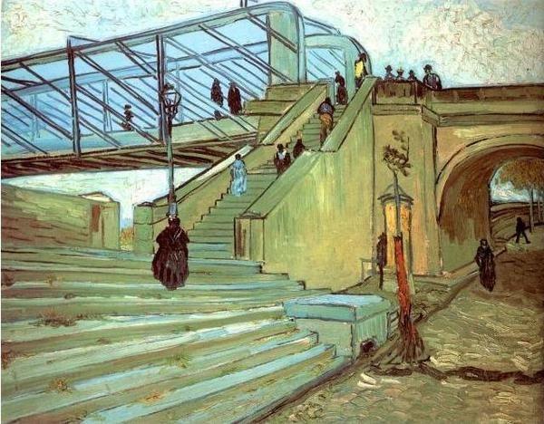 """Vincent van Gogh """"Most w Trinquetaille"""" / Gogh, Vincent van, - Most w Trinquetaille / malarstwo / Dzieła / Śląskie Kolekcje Sztuki - Rariora Artis"""