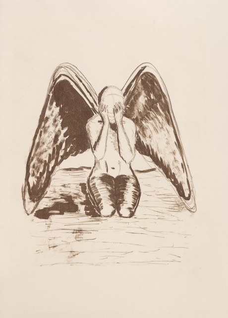 """""""Thou shall not harm angels"""", lithography by Altea Leszczynska"""