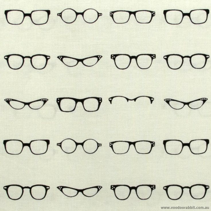 Geekly Chic Glasses Cream by Riley Blake | Voodoo Rabbit Fabric, East Brisbane Australia