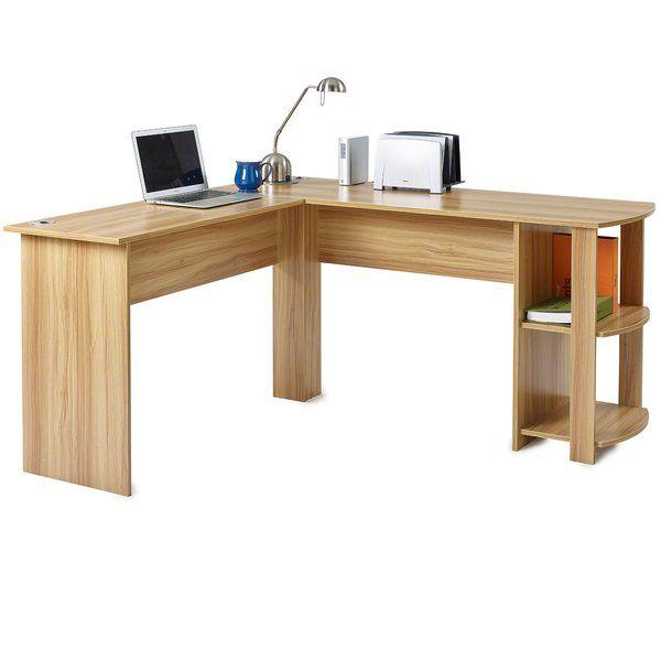 Alaina L Shape Computer Desk Computer Desk With Shelves Desk Desk Shelves